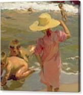Children On The Seashore Canvas Print