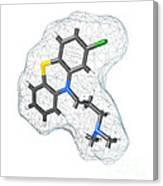 Chlorpromazine, Molecular Model Canvas Print
