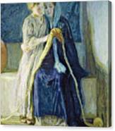 Christ And His Mother Studying The Scriptures Canvas Print