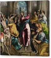 Christ Driving The Traders From The Temple Canvas Print
