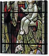 Christ With The Children. Canvas Print