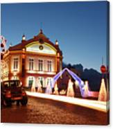 Christmas In Ribeira Grande Canvas Print