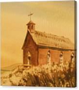 Church Manhattan Nevada Canvas Print