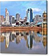 Cincinnati Reflects Canvas Print