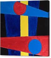 Circles Lines Color #5 Canvas Print