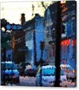 City As A Painting Canvas Print