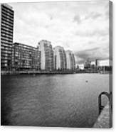 city lofts and nv buildings salford quays Manchester uk Canvas Print