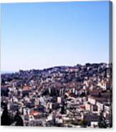 City Of Nazareth From The Saint Gabriel Bell Tower Canvas Print