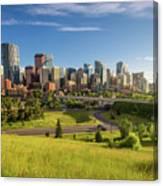 City Skyline Of Calgary, Canada Canvas Print