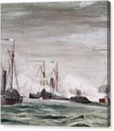 Civil War: Naval Battle Canvas Print