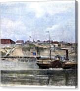 Civil War: Union Steamer Canvas Print