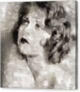 Clara Bow Vintage Hollywood Actress Canvas Print