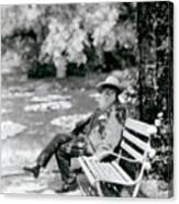 Claude Monet In His Garden Canvas Print