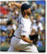 Clayton Kershaw, Los Angeles Dodgers Canvas Print
