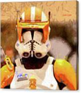 Clone Trooper Commander - Free Style Style Canvas Print