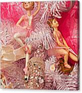 Close-up Of Toys On Christmas Tree Canvas Print
