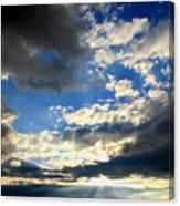 Clouded Sun Rays Canvas Print