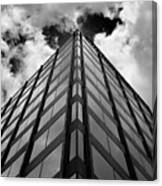 Clouds And Office Building Midtown Canvas Print