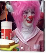 Clown With Pink Hair Canvas Print