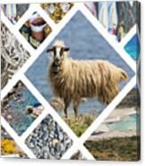 Collage Of Crete  Canvas Print