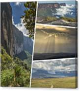 Collage Of Table Mountain Roraima Canvas Print