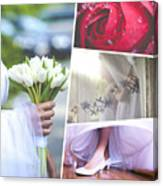 Collage Of Wedding Time Sensational Canvas Print