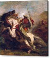 Collision Of Moorish Horsemen Canvas Print