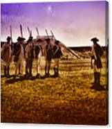 Colonial Soldiers At Fort Mifflin Canvas Print
