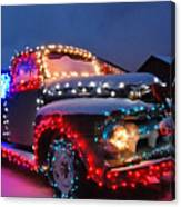 Colorado Christmas Truck Canvas Print