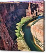 Colorado River Flows Around Horseshoe Bend  Canvas Print