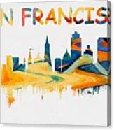colorful san francisco skyline silhouette two painting by dan sproul