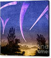 Comets In Night Sky Canvas Print