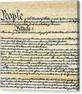 Constitution Canvas Print