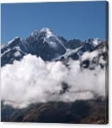 Cordillera Real And Illampu Canvas Print