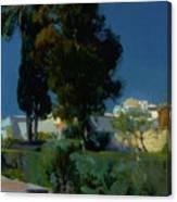 Corner Of The Garden, Alcazar, Sevilla Canvas Print
