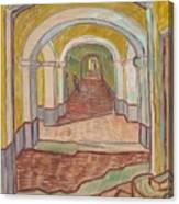 Corridor In The Asylum Canvas Print