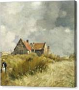 Cottage In The Dunes Canvas Print