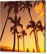 Couples Vacation Canvas Print