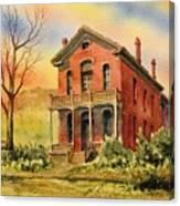 Courthouse Bannack Ghost Town Montana Canvas Print