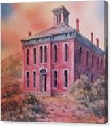 Courthouse Belmont Ghost Town Nevada Canvas Print