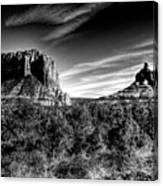 Courthouse Butte And Bell Rock Sedona Arizona Canvas Print