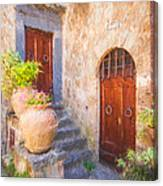 Courtyard Of Tuscany Canvas Print