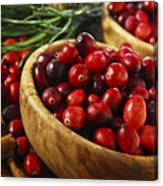Cranberries In Bowls Canvas Print