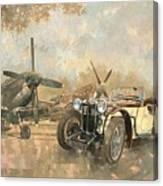 Cream Cracker Mg 4 Spitfires  Canvas Print