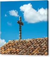 Cross And Tiled Roof Canvas Print