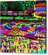 Crowded Beach Canvas Print
