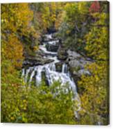 Cullasaja Falls In Autumn Canvas Print
