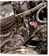 Custom Car Chromed Engine Canvas Print