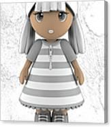 Cute Little 3d Girl Canvas Print