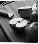 Cutting Apples Canvas Print